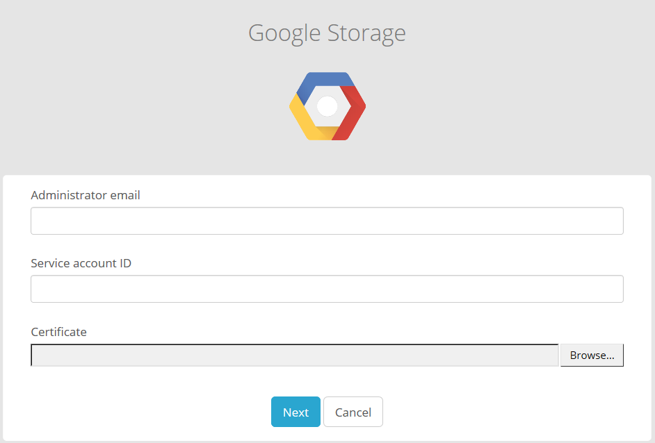 google-storage-preview-enter-credentials.png